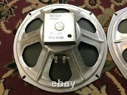Paire De Haut-parleurs Vintage Cts 12 Haut-parleurs 4 Ohms Guitar Amplificateur