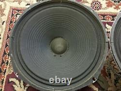 Paire De Haut-parleurs Vintage Cts 12 Haut-parleurs 8 Ohms Guitar Amplificateur Ribbed Cone Dark Tone