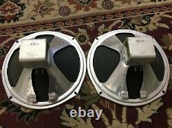 Paire De Haut-parleurs Vintage Magnavox 12 Haut-parleurs 8 Ohms Guitar Amplificateur Ribbed Cone