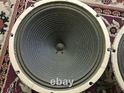 Paire De Haut-parleurs Vintage Oxford 12 Haut-parleurs 8 Ohms Guitar Amplificateur