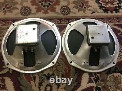 Paire De Vintage Cts 10 Haut-parleurs Guitar Amplificateur Ribbed Cone