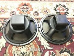 Paire De Vintage Heppner 10 Speakers Guitar Amplificateur Ribbed Smooth Cone
