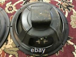 Paire De Vintage Heppner 12 Haut-parleurs 16 Ohms Guitar Amplificateur Smooth Cone