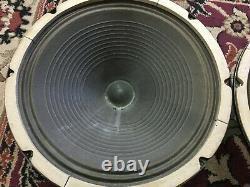 Paire De Vintage Rola 12 Speakers 8 Ohms Guitar Amplificateur Ribbed Cone