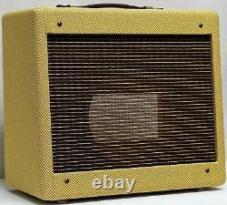 Panneau Étroit Tweed Champ Guitar 5f1 Amplificateur Combo Speaker Cabinet
