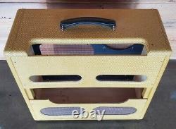 Panneau Étroit Tweed Pro Style Guitar Amplificateur Combo Speaker Cab 5e5-a