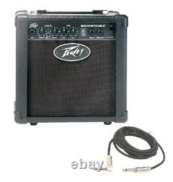 Peavey Backstage 10w Guitar Combo 6 Speaker Transtube Amp With Instrument Cable