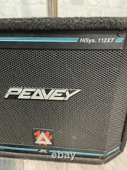 Peavey Hisys Xt Series 112xt 6xt Pa Speaker System / Haut-parleurs Widow Noir