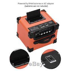 Portable Bt Ampli Guitare Électrique Haut-parleurs Amplificateur 10w Deux Canaux R0f0