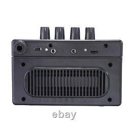 Portable Guitar Bass Mini Amplificateur Deux Haut-parleurs Usb Rechargeable 18650 Batterie