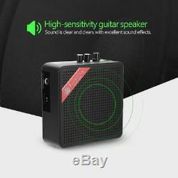 Portable Mini Guitare Électrique Amplificateur Haut-parleur Haut-parleurs 5w Amp 9v Noir