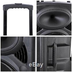 Pre-vente 1500w À Distance 15 Pa Active Speaker MIC Guitar Amp Bluetooth LCD Usb Sd
