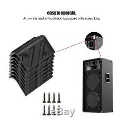 Protecteur De Coin En Chrome Pour Armoire De Haut-parleur D'amplificateur De Guitare En Plastique / Métal De 8 Pcs