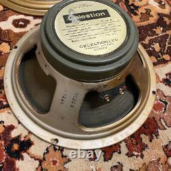 Quad 4x Vintage 1970 Celestion G12m T1221 12 25w Guitare Greenback Speaker Driver