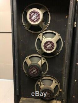 Quad De 4x 1970 Hiwatt Fane Vintage 1973 122170 Purple Label Enceintes