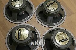Quad Of Celestion 1973 G12h T1217 75hz Haut-parleurs / Haut-parleurs