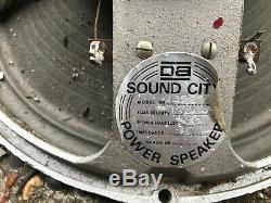 Quartet Vintage Sound City Badgée Fane 12 Haut-parleurs Pour Ampli Guitare