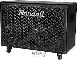 Randall Rg212 2x12 100 Watts 8 Ohm Guitar Speaker Cabinet Avec Steel Grill