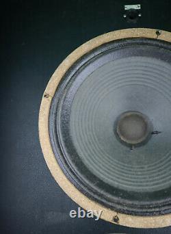 Rare 1965 Celestion G12m T1511 T1221 Billet Vert 12 Haut-parleur Vintage Pulsonic