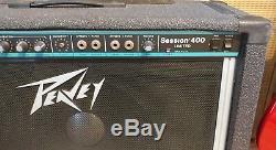 Rare Peavey Session 400 Limited Amplificateur De Guitare En Acier. Haut Parleur Widow Black