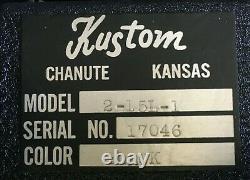 Rare Vintage Kustom Basse Ampli Tête Et Haut-parleur Bas Avec 2 Haut-parleurs Jbl D140f