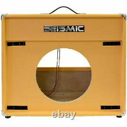 Seismic Audio 1x12 Guitar Speaker Cab Empty Cabinet Vintage Orange