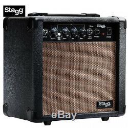 Stagg Ampli Guitare Acoustique 10 Watts Avec 8 Haut-parleurs Et Égaliseur À 3 Bandes