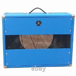 Subz 1x12 Extension Guitar Speaker Cabinet Light Blue Avec Oxblood Open