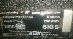 Sunn 610s Vintage 6x10 Enceinte C. 1969