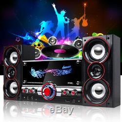 Système De Machine Karaoké Bluetooth Haut-parleur Pa Jukebox Amplificateur Guitare Usb Mp3 Hot