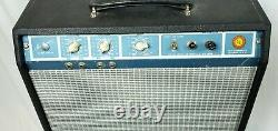 Tone Machine! Harmony H305a 1960's Tube Guitar Amp In Fender Cab With12 Speaker