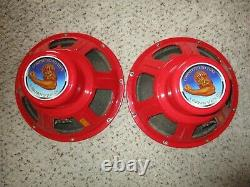 Tone Tubby 12 Red Alnico Hemp Cone Haut-parleurs 8 Ohm Paire