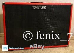 Vente USA Tone Tubby 2x12 Cab Alnico Rouge Chanvre Cône Gt12 Pro Président 16 Ohm