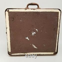 Vintage 1940s Victor Haut-parleur Et Cabinet Pour Amplificateur De Guitare De Projecteur 12 1606