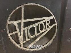 Vintage 1940s Victor Speaker & Cabinet Pour Amplifier Guitaire Du Projecteur 12 Parties