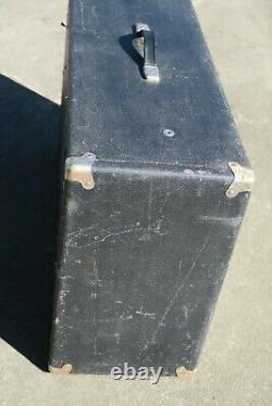 Vintage 1960 Fender Bandmaster 2x12 Piggyback Président Amp Unité Cabine Cabinet