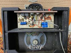 Vintage 1964 Vox Ac4 Amplificateur De Valve 1x8 Combo Mullard & Orig Elac Haut-parleur 1960s