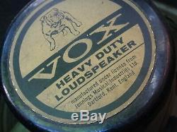 Vintage 1965 Vox Student Guitar Amp / Haut-parleur