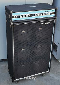 Vintage 1970, 71 Acoustic 150 Guitar Amplificateur Head Et 610 Speaker Cabinet