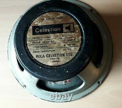 Vintage 1970's Celestion G12h Full-range Speaker 8 Ohm 30w Made In England