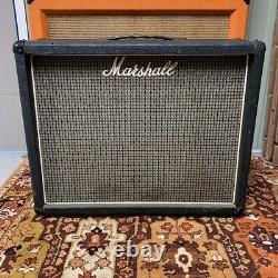 Vintage 1976 1970s Marshall 2045 2x12 Cabinet De Guitare Avec Éminence 12 Haut-parleurs