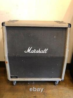Vintage 1980 Marshall 2551av Silver Jubilee 4x12 Slant Speaker Cab Circa 1987
