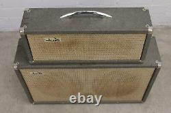 Vintage 60s Alamo Galaxie Amplificateur De Tube De Guitare Tête Et Haut-parleur Cabinet #41580