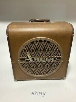 Vintage Ampro 16641 12. Speaker Withcabinet En 1956. Haut-parleur D'ampli De Guitare De Cru