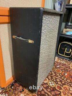 Vintage Années 1960 Selmer David Crocodile Skin 1×15 Guitar Bass Speaker Cabinet Fane