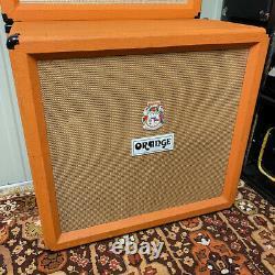 Vintage Années 1970 1975 Orange 4x12 Amplificateur Cabinet Cab Celestion T1217 G12 Speaker