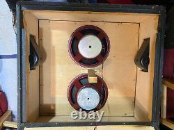 Vintage Années 1970 Marshall 2x12 Mckenzie Speakers Modèle 2196 Cabinet