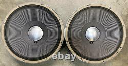 Vintage Jbl D130f Matched Paire 15 Haut-parleurs