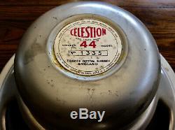 Vintage Pre Rola Celestion Alnico P44 12 Pouces Haut-parleurs Thames Ditton Royaume-uni Surrey