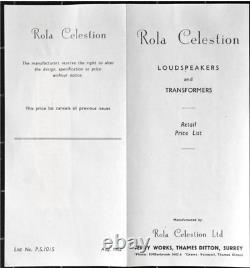 Vintage Pre Rola Celestion P44 Alnico 12 Pouces Haut-parleur Thames Ditton Surrey Uk